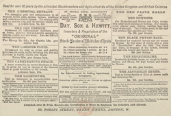 Advert For Day, Son & Hewitt's Stockbreeders Medicine Chest